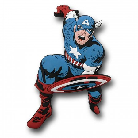 Captain America 3D Die Cut Rubber Magnet