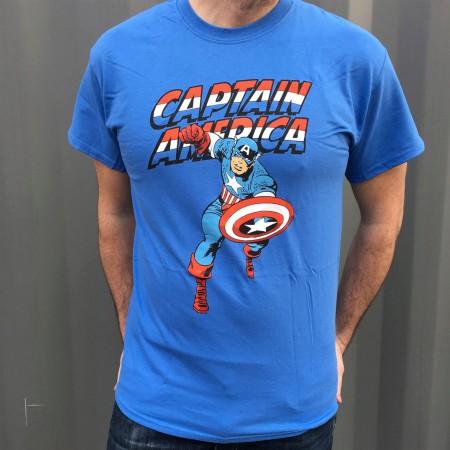 Captain America Jack Kirby Running T-Shirt
