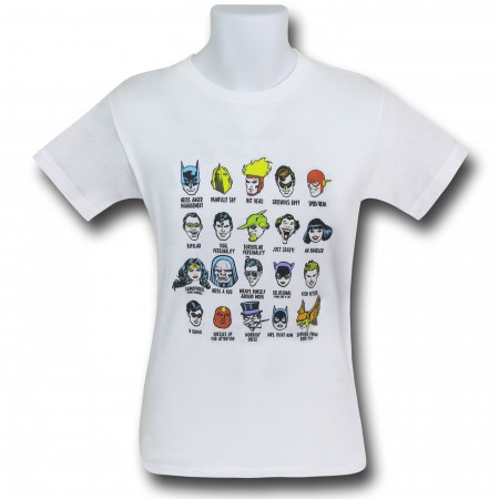 DC Character Heads Kids T-Shirt