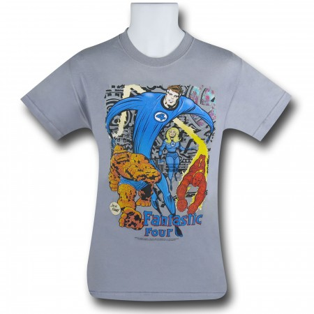 Fantastic Four In Action Jack Kirby T-Shirt