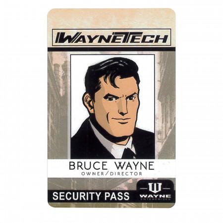 Batman Bruce Wayne Comic Tech Security ID Badge