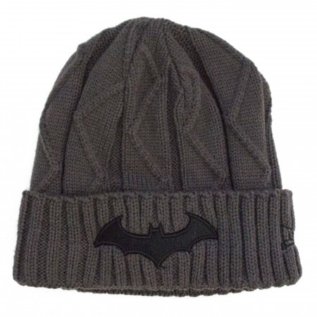 Batman HUSH Symbol with Batcave Weave Unisex Knit Beanie