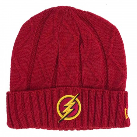 Flash Symbol Speedforce Weave Unisex Knit Beanie