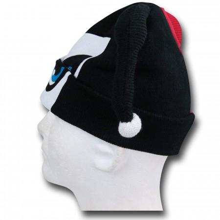 Harley Quinn Cuff Flock Mask Beanie