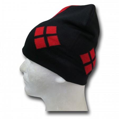 Harley Quinn Symbol Slouch Beanie