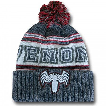 Venom Cuff Pom Pom Beanie