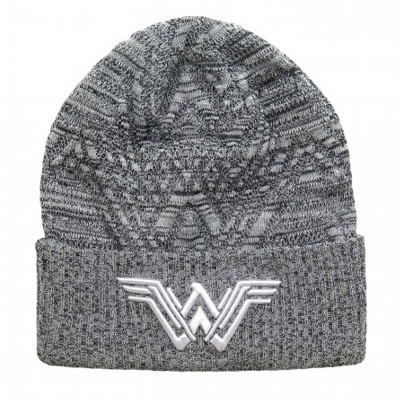 Wonder Woman Movie Symbol Knit Pattern Beanie