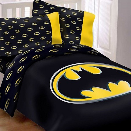 Batman Queen Comforter Set w/ 2 Pillow Cases