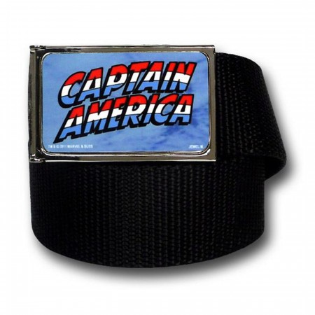 Captain America Logo Black Web Belt