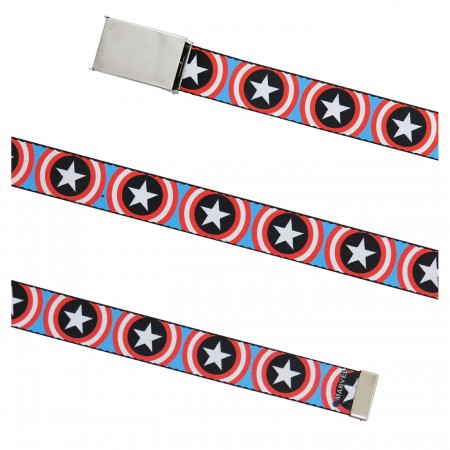 Captain America Shield Repeat 1.25 Women's Web Belt