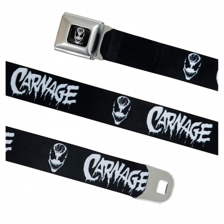 Carnage Black & White Seatbelt Belt