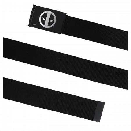 Deadpool Symbol Black Web Belt