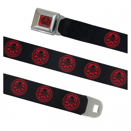 Hydra Logo Red & Black Seatbelt Belt
