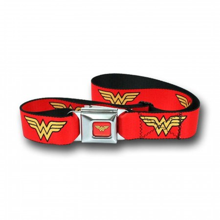 Wonder Woman Symbol Webbed Seatbelt Belt