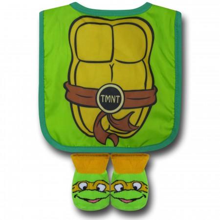 TMNT Infant Caped Bib & Sock Set