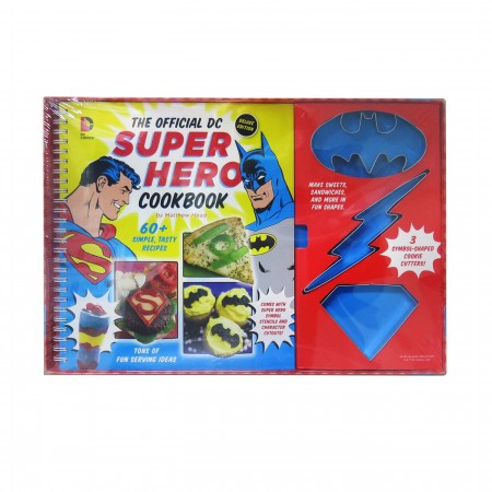 DC Comics Superhero Cook Book with Cookie Cutters