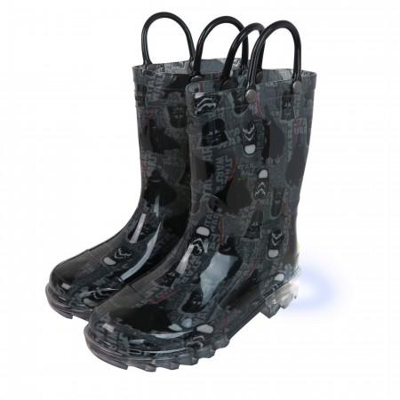Star Wars Darkside Lighted Kids Rain Boots