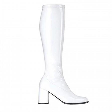 Hero White GO GO Boots 3 Inch Heel