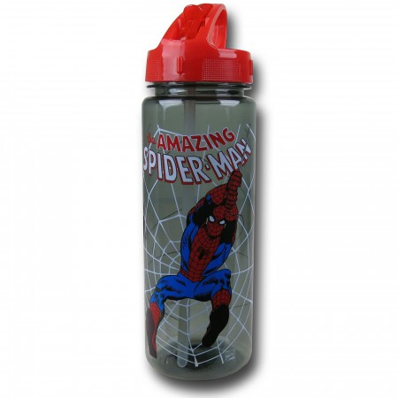 Spider-Man Plastic 20 oz. Flip Top Bottle
