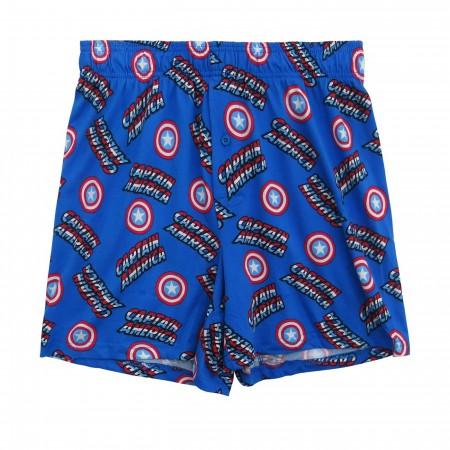 Captain America Men's Boxer Shorts with Tin Shield