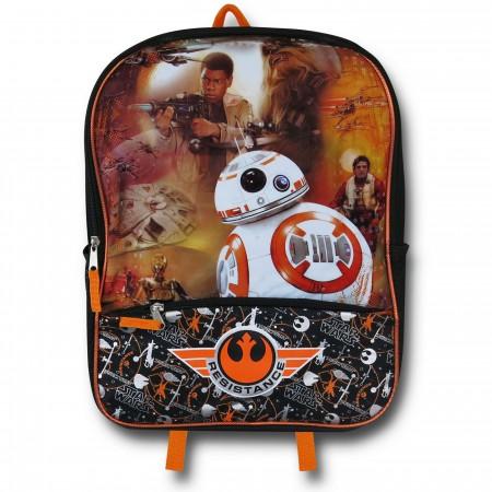 Star Wars Force Awakens BB-8 Poster Backpack