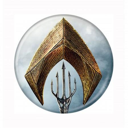 Aquaman Symbol & Trident Button