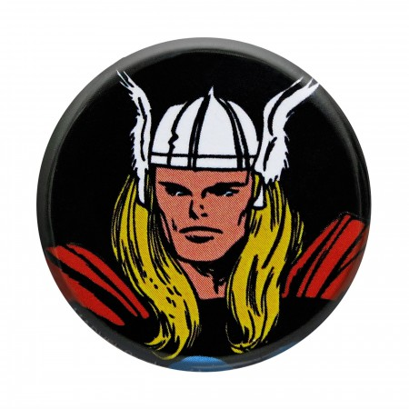 Thor Headshot Black Button