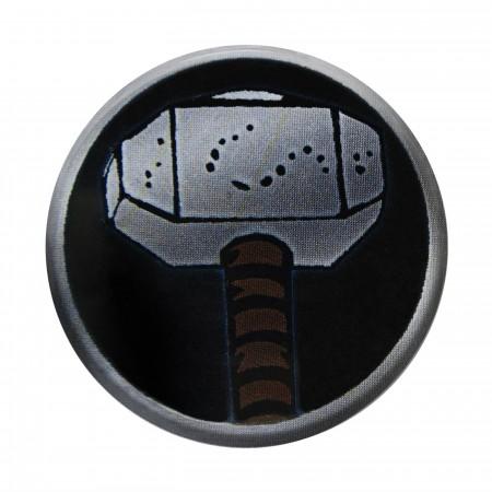 Thor Mjolnir Hammer Button