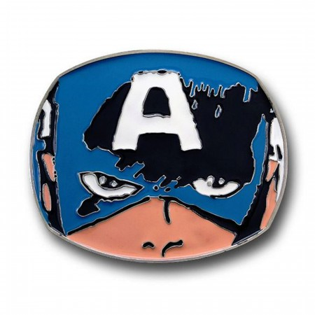Captain America Face Belt Buckle