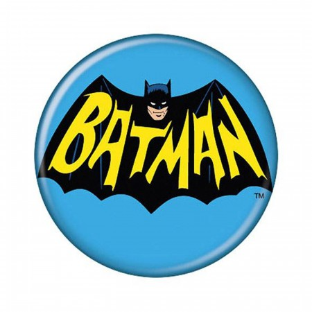 Adam West Batman Logo Button