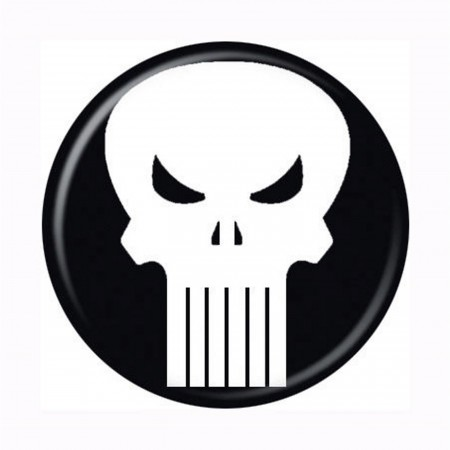 Punisher Skull Symbol Button