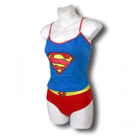 Supergirl Classic Symbol Cami and Panty Set