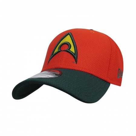Aquaman Symbol Orange 39Thirty Fitted Hat