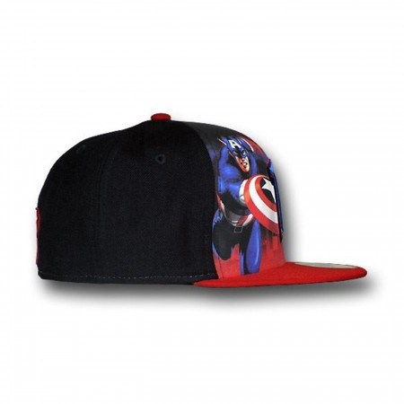 Captain America Detroit Pistons 59Fifty Flat Billed Cap