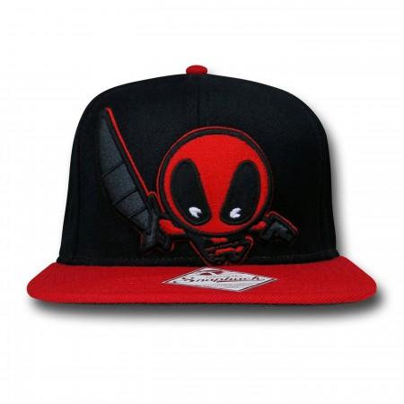 Deadpool Kawaii Black Snapback Cap