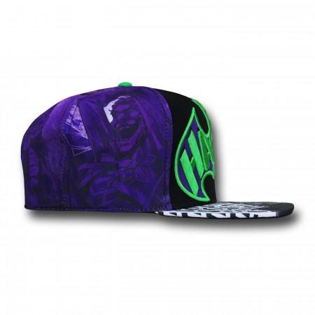 Joker Sublimated Emblem Snapback Cap