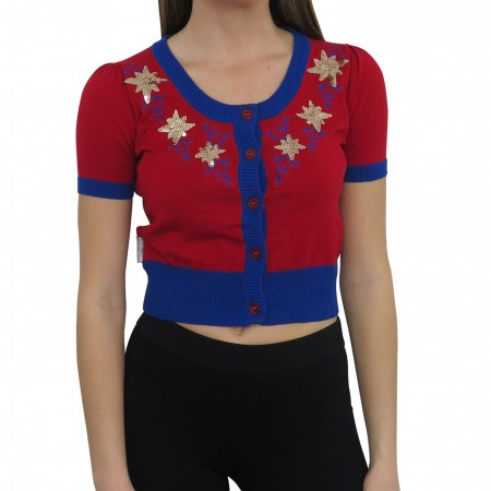 Captain Marvel Women's Vintage Cardigan