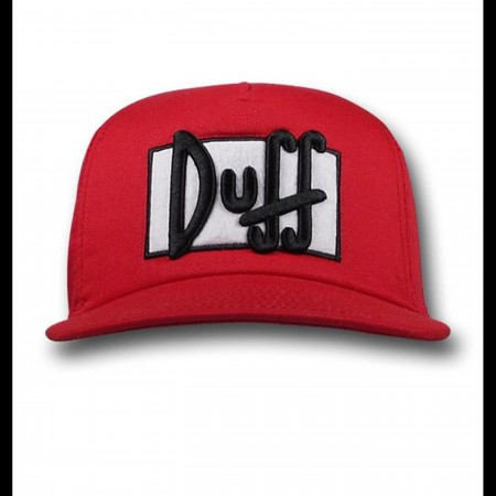 The Simpsons Duff Beer Flat Bill Cap