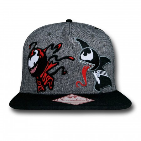Venom and Carnage Kawaii Grey Snapback