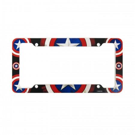 Captain America Shields License Plate Frame