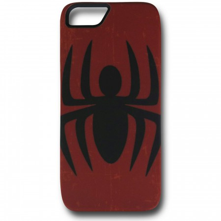 Spider-Man Symbol Distressed Red iPhone 5 Case