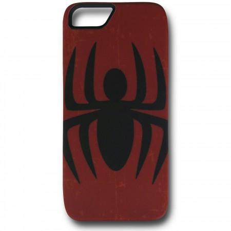 Spider-Man Symbol Distressed Red iPhone 5 Case