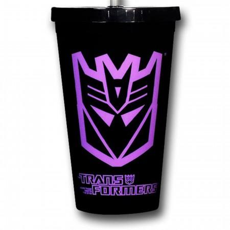 Transformers Decepticon Acrylic Cold Cup w/Lid
