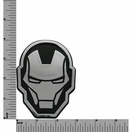 Iron Man Head Chrome Car Emblem