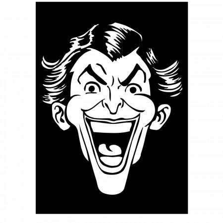 Joker Classic Head White Decal