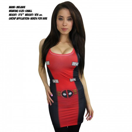 Deadpool Costume Sublimated Stretch Fit Tank Dress