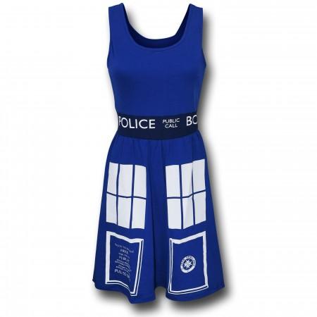 Dr. Who Tardis Women's A-Line Dress