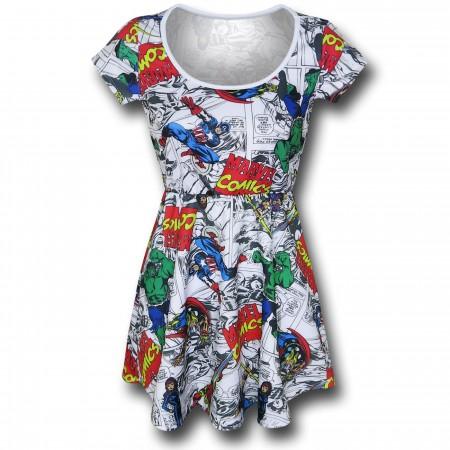 Marvel Logos & Characters Skater Dress