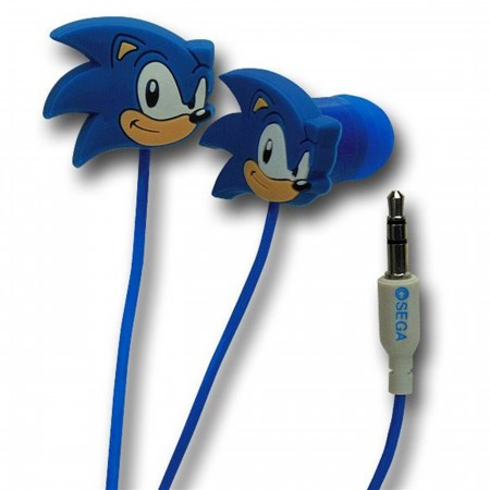 Sonic The Hedgehog Rubber Earphones