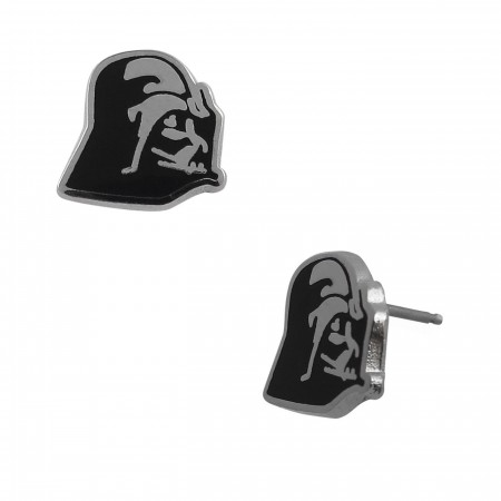 Star Wars Darth Vader Profile Stud Earrings